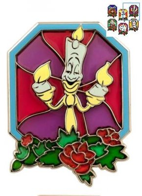 Lumiere stained glass series pin