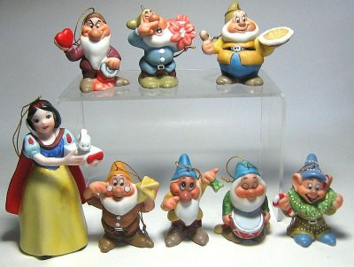 Snow White and Seven Dwarfs Christmas ornament set from our ...