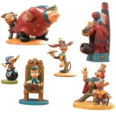 Pinocchio At Pleasure Island Set Of 6 Pewter Miniatures