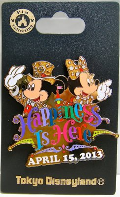 'Happiness Is Here' Mickey & Minnie Tokyo Disneyland 30th anniversary pin