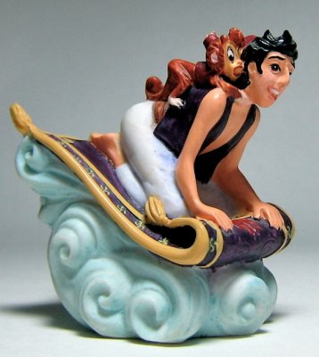 Aladdin And Abu Riding Magic Carpet Thimble From Our Other