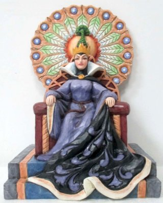 'Evil Enthroned' - Evil Queen on throne figurine (Jim Shore Disney Traditions)