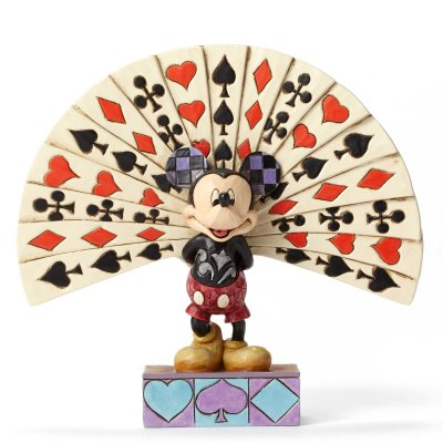 'All Decked Out' - Mickey Mouse with playing cards figurine (Jim Shore Disney Traditions)