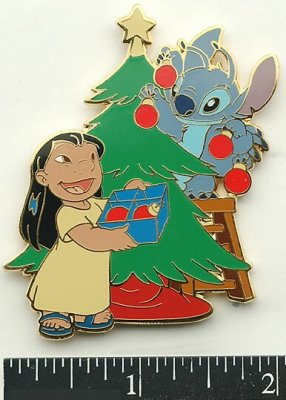 Lilo and Stitch Christmas tree trimming pin