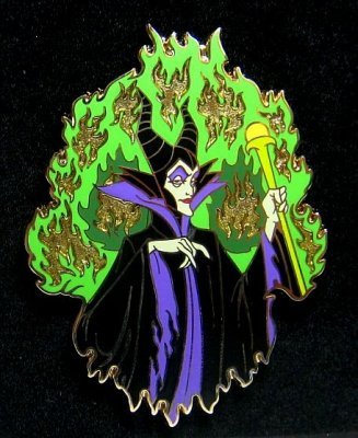 Maleficent Fire Jumbo Pin 2010 From Our Pins Collection