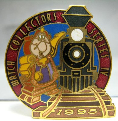 Cogsworth and train Watch Collection Series IV pin