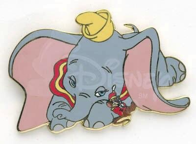 sleepy dumbo and timothy mouse pin from our pins collection disney
