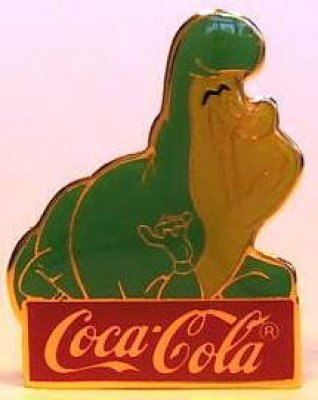 Caterpillar Coca-Cola Disney pin