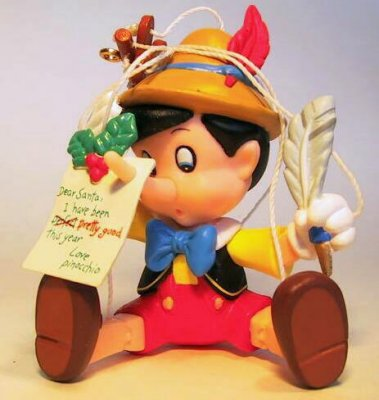 A real boy for Christmas Pinocchio marionette ornament from our ...