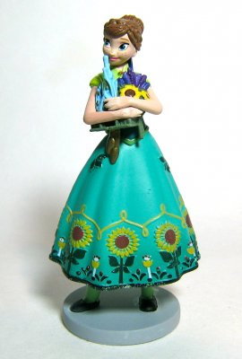 Anna PVC figurine (from 'Frozen Fever')