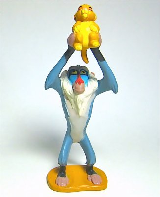 Rafiki Holding Baby Simba Pvc Figure From Our Pvcs