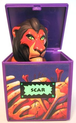 scar popup finger puppet fast food toy from our fast food