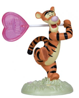 'Put a little bounce in your heart.' - Tigger with BE MINE sign figure