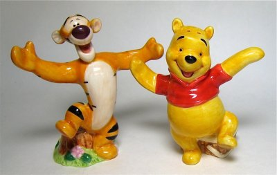 Winnie The Pooh And Tigger Arms Out Salt And Pepper Shaker