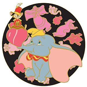 dumbo and timothy pink elephants on parade spinner pin from our