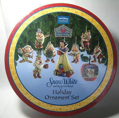 Snow White and the Seven Dwarfs holiday ornament set from our Jim ...