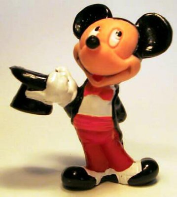 mickey mouse in a tuxedo pvc figure from our pvcs