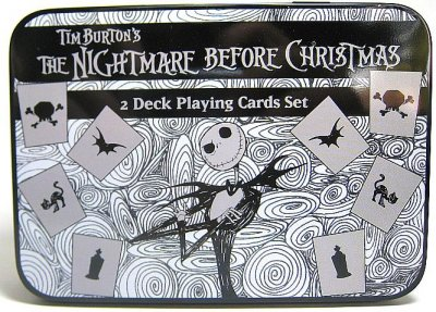 Set of 2 decks of Nightmare Before Christmas playing cards (b+w ...