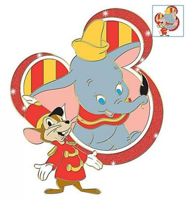 dumbo and timothy mouse mickey mania pin from our pins collection