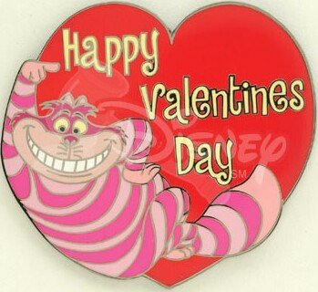 Cheshire Cat Happy Valentines Day Disney pin