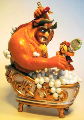 Beauty For The Beast Cogsworth In Bath Ornament