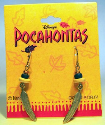 Pocahontas feather earrings
