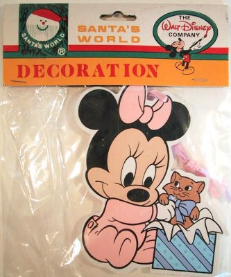 Baby Minnie wooden ornament