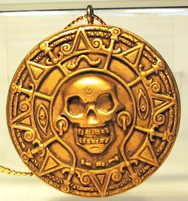 Gold Medallion With Skull Storybook Ornament From Our
