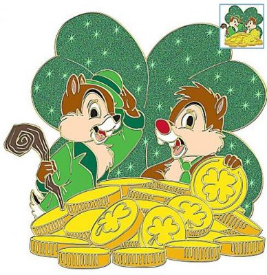 Chip 'N Dale pot of gold 'St. Patrick's Day' series pin from our ...