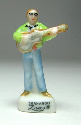 Bernardo with guitar porcelain miniature figure