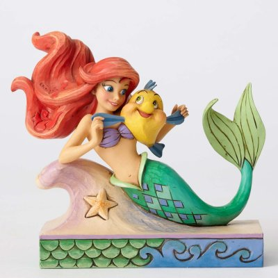 'Fun and Friends' - Ariel and Flounder figurine (Jim Shore Disney Traditions)