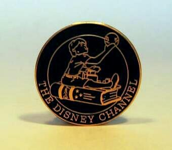 Child on book Disney Channel pin