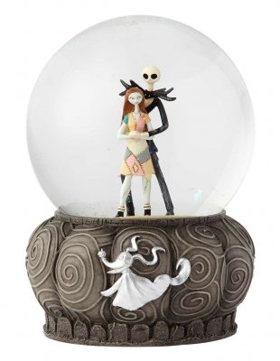 Jack Skellington and Sally with Zero Disney snowglobe / waterball (2018)