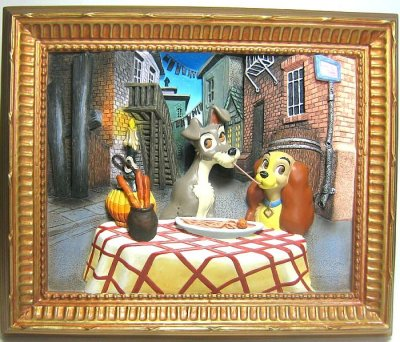 Lady And The Tramp 3d Picture Wall Hanging From Our Other Collection Disney Collectibles And Memorabilia Fantasies Come True