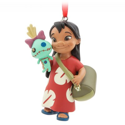 Lilo and her doll Scrump sketchbook ornament (2017)