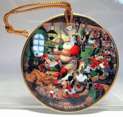 Santa S Workshop Christmas Medallion Disc Ornament