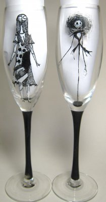 Nightmare Before Christmas Champagne Flutes From Our