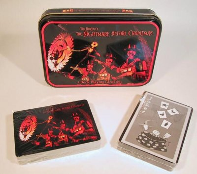 Set of 2 decks of Nightmare Before Christmas playing cards from ...