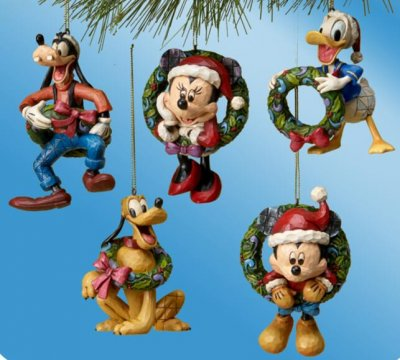 set of fab five ornaments jim shore disney traditions