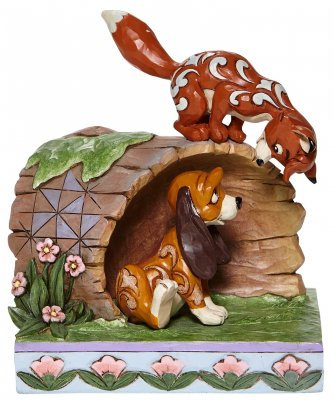 'Unlikely Friendship' - Tod and Copper figurine (Jim Shore Disney Traditions)