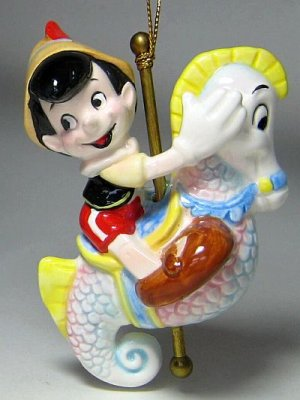 Pinocchio On Carousel Seahorse Ride Ornament From Our