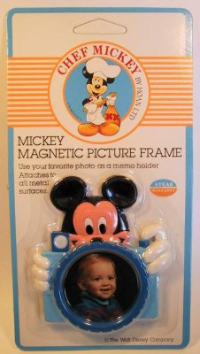 Chef Mickey Mouse With Camera Photo Frame Magnet From Our Magnets