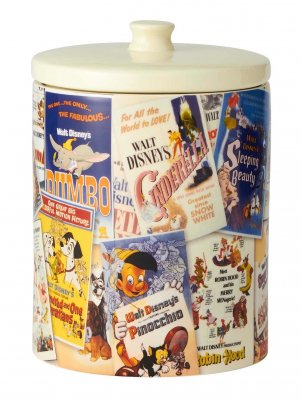 Disney classic movie posters cookie jar / canister