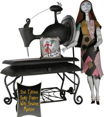 Sally action figure, with sewing machine