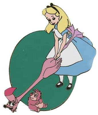 alice playing flamingo croquet pin from our pins Winnie the Pooh Characters Winnie the Pooh Characters
