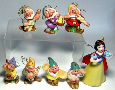 Snow White and Seven Dwarfs instruments ornament set from our ...