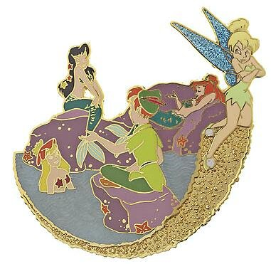 Peter Pan And The Mermaids With A Jealous Tinker Bell Pin