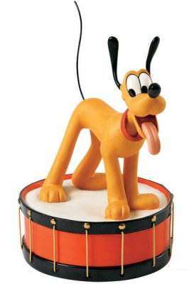 'Keep the beat' - Pluto figurine, from The Mickey Mouse Club (WDCC)
