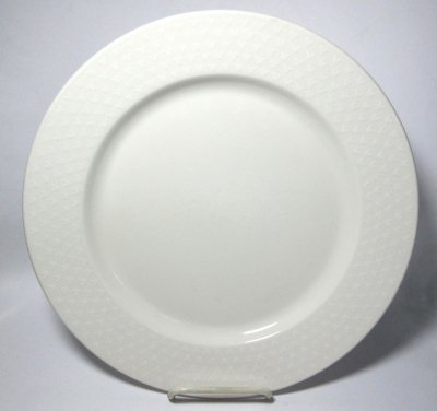 Disney white serving plate with Mickey Mouse icon