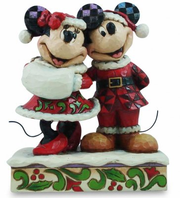 'Holiday Duet' - Minnie and Mickey Mouse Christmas figurine (Jim Shore Disney Traditions)